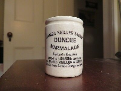 antique old small jar pottery James Keiller & sons Dundee marmalade 2oz crock