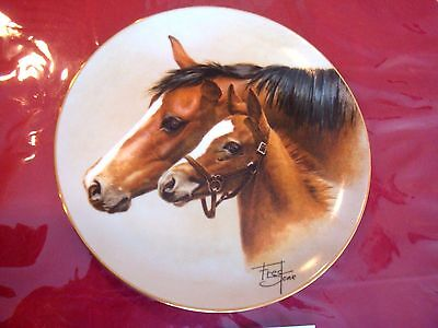 Tranquility Horse Plate By Fred Stone With Coa