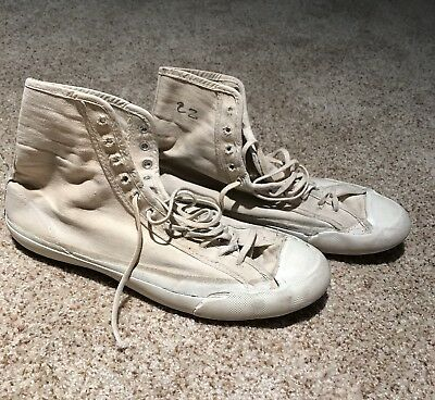 Vintage 50s 60s Converse Chuck Taylor Wrestling Shoes Sneakers Black Label USA