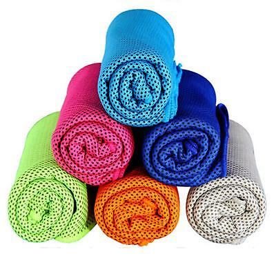 """New 39"""" X12"""" Ice Cooling Towel Instant Cooling Exercise Running Yoga Gym Sport"""
