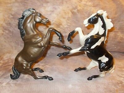 Rare Hartland Rearing Stallions Paint and Copper Bay