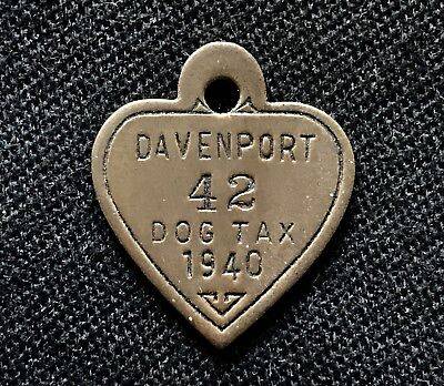 1940 Dog Tag License Davenport