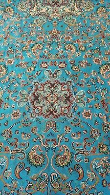 Persian Rug Design Exotic Woven Art Silk Termeh Tapestry Runner Authentic-4A
