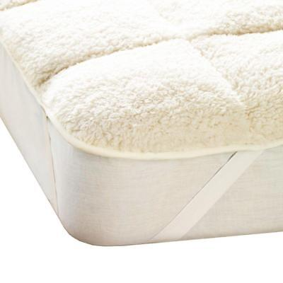 Teddy Mattress Topper Enhancer Single Double King Super King Fleece Warm Elastic