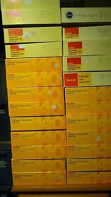 Lot Of 26 Kodak Carousel Transvue 140 Slide Trays With Boxes