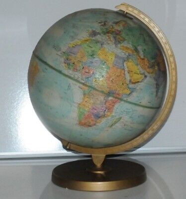 "Vintage Replogle ""World Nation"" 12 in. Diameter Globe w/ Metal Stand 1979-1984"