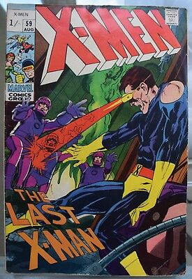 UNCANNY X-MEN #59 SILVER AGE. NEAL ADAMS Art. See description