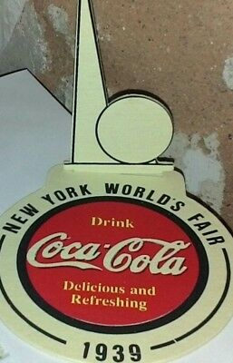 Vintage Old 1939 New York World's Fair,coca Cola Coaster Display,free Shipping