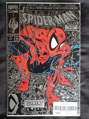 Spider-Man #1 Silver Comic (1990, Marvel) Unopened in packaging