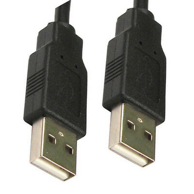 3m Black USB Cable A Male To A Male Plug Shielded High Speed 2.0 28awg CabledUp®