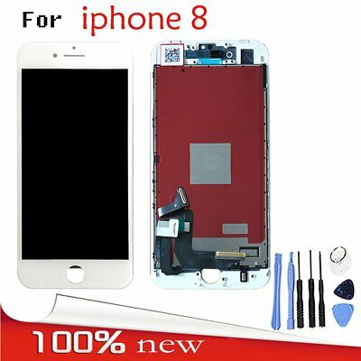 For Apple iPhone 8 LCD Display Screen Touch Digitizer Frame Unit Assembly White