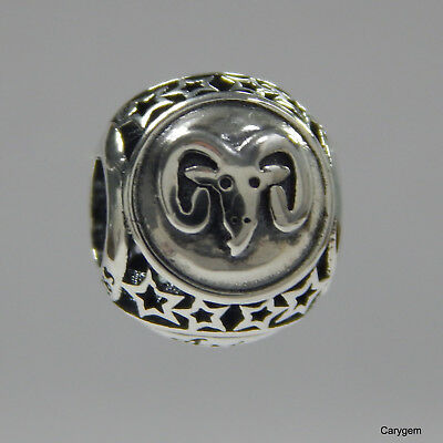 8e07cacd0 ... ebay authentic pandora charm sterling silver 791936 aries star sign w  suede pouch 5c985 4b3a0