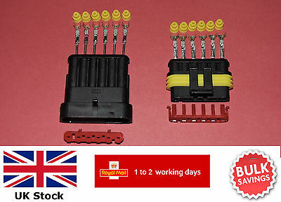 AMP Superseal Waterproof Electrical Connectors 1,2,3,4,5 or 6 pin