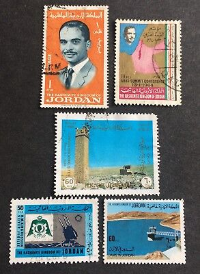5 nice used stamps Kingdom of Jordan / 02