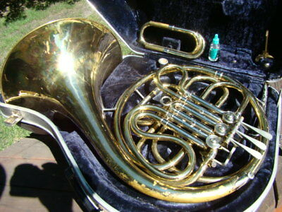 C.G.Conn LTD Brass FRENCH HORN with Case