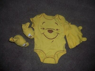 Winnie the Pooh bodysuit.  Cap and booties new