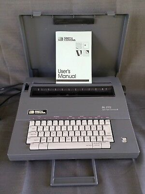 Smith Corona SL 575 Spell Right Portable Electric Typewriter 100% WORKING CLEAN