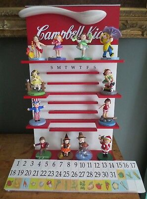 Campbell Soup Kids * Danbury Mint * Perpetual Calendar With All 12 Figurines *