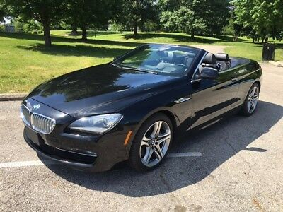 2015 BMW 6-Series  2015 BMW 650i xDrive Convertible Black - Excellent Condition