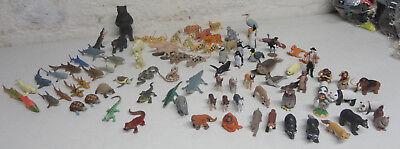 90 piece Lot of Plastic Animal Toys by K & M
