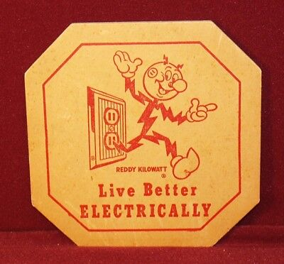 Reddy Kilowatt Fiber Board Hot Pad Holder - Live Better Electrically