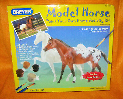 BREYER Paint Your Own Horse Activity Kit / Two Paddock Pals Horses & Paint