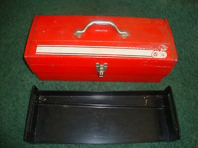 Vintage Dodge Mopar Plymouth Scat Tool Box 60's 70's little guy w wheels Red