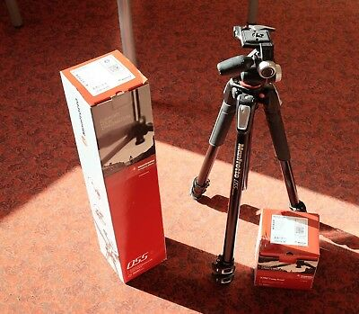 Manfroto MT055XPRO3 tripod with MHXPRO-3W 3 way head