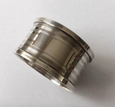 Antique 1936 Solid Silver Napkin Ring With Blank Cartouche By H Griffith & Sons.