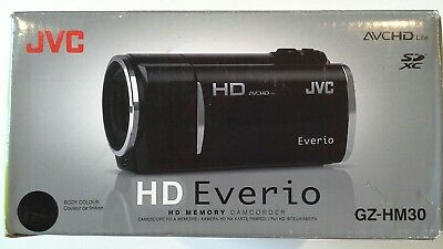 NEW JVC HD Everio GZ-HM30 Camcorder - Black