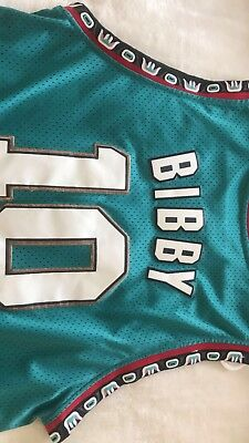 a829c903a Vintage Retro NBA Jersey Mike Bibby Vancouver Grizzlies 90s Champion Adidas