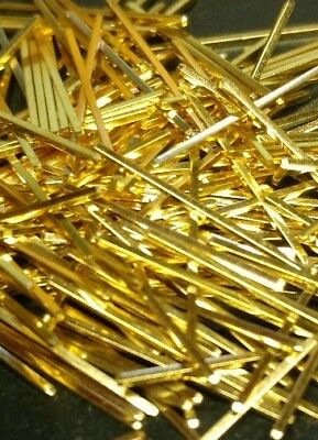 """Clean 24k gold plated pins. 3/4"""" long and FULLY plated!!!"""