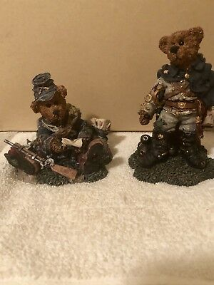 Boyds Bears Civil War Figurines Stonewall the Rebel and Letters Union Jack