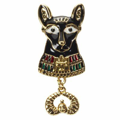 Bastet Cat Egyptian with Ankh Scarab Color Costume Pendant Unisex Necklace