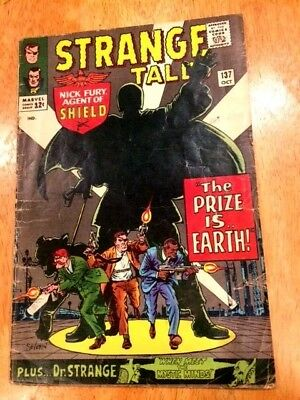 STRANGE TALES #137 (Oct 1965 Marvel) Nick Fury of SHIELD + Dr. STRANGE!
