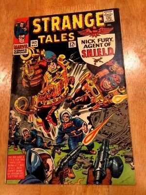 STRANGE TALES #142 (Mar 1966 Marvel) Nick Fury of SHIELD + Dr. STRANGE!