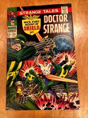 STRANGE TALES #155 (Apr 1967 Marvel) Nick Fury of SHIELD + Dr. STRANGE!
