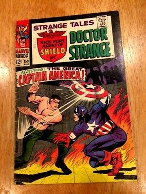 STRANGE TALES #159 (Aug 1967 Marvel) Origin Nick Fury! Captain America c/story!