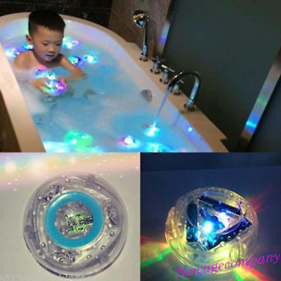 Baby Kids Bathroom LED Light Toys Color Change Bathtub Shower Floating Toy Newly
