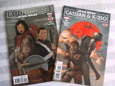 MARVEL Star Wars Rogue One graphic comic lot #2 Cassian K-2SO #1 2018 NEW Houser