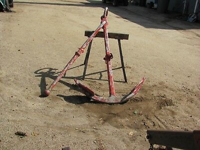 Vintage Ships Anchor, Galvanized Steel, Very Large, Great for Restaurant!