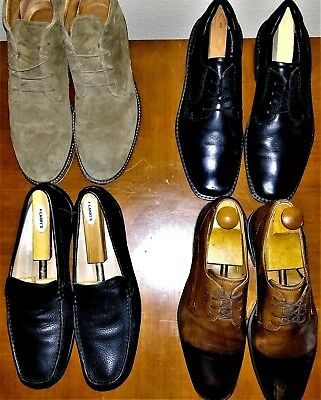 Mens LOT OF 4 Pairs Of Ecco Shoes Size 11M Chukka Boot Wingtip Oxfords Plain Toe