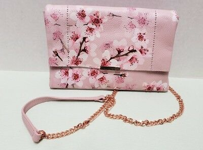 508172777 NWT - Ted Baker London - JAYY - Soft Blossom Leather Crossbody Bag - Light  Pink