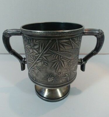 Japonesque Aesthetic Antique - American Silver Plated Sugar Bowl 1890's