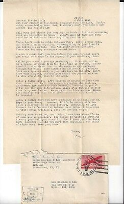 1945 France Sweetheart Letter & U.S. Army Censor Cover