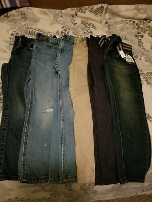 Lot of 6 Used Boys Jeans (Sizes 6, & 6R) Varying Brands and Colors