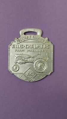 1930's Allis Chalmers Tractor Watch Fob made by Bastian  Rochester USA,