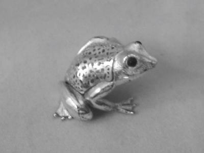 Vintage Christofle France Silverplated Frog Excellent Condition