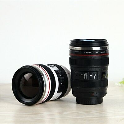 DSLR 400ML 24-105mm Camera lens Cup Stainless Steel Cup Mug
