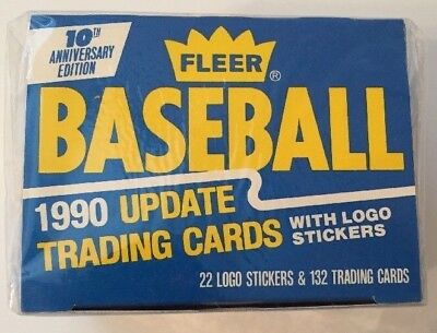 1990 Fleer 10th Anniversary Edition Baseball Update Trading Cards-Factory Sealed
